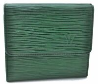Authentic Louis Vuitton Epi Wallet Green LV A8968