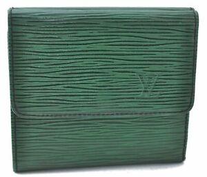 Authentic Louis Vuitton Epi Wallet Green LV A8968