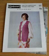 Ladywood * DK * Lavorato a Maglia Gilet A Maglia Vintage Pattern * 517