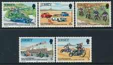 1980 JERSEY MOTORCYCLE & CAR CLUB SET OF 5 FINE MINT MNH