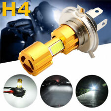 New H4 COB LED Motorcycle Hi-Lo Beam Headlight Head Light Lamp Bulb 6500K