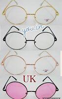 Retro Geek Vintage Wayfarer Nerd Frame Fashion Black clear lens glasses UK