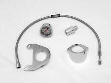 Oil Pressure Gauge Kit for Twin Cam Harley Davidson - Chrome