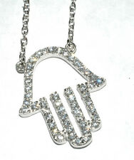 Silver Hand of God Pendant .925 with AAA quality Cubic Zirconia pave set