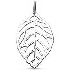 Plain Leaf .925 Sterling Silver Pendant