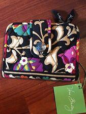 NWT Vera Bradley Snappy Wallet Suzani Retired Floral Black Magnetic Bi-fold