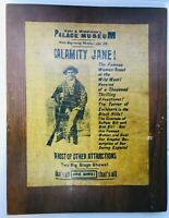 "CALAMITY JANE  PARCHMENT PAPER ON WOOD PLAQUE 14-1/2"" X 11-1/2"""