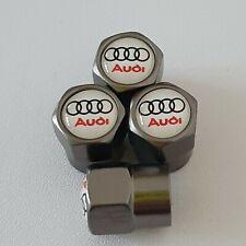 Audi Rs Roue Rouge Valve Capuchons Anti-poussière anti vol tous les modèles