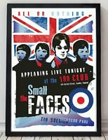 Small faces poster. Celebrating famous venues and gigs. Specially created.