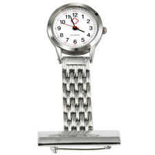 Nurses Stainless Steel Quartz Fob Watch In Silver  - By TRIXES
