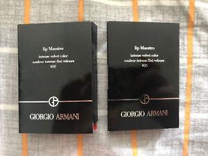 2X GIORGIO ARMANI Lip Maestro Intense Velvet Color 400 Mini size 1.5 ml/0.05 oz