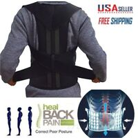 Man Woman Back Support Belt Posture Corrector Brace Lower Upper Back Pain Relief