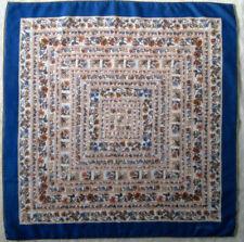 -Superbe foulard OSTINELLI laine/soie/cachemire   TBEG vintage scarf  84 x 88 cm