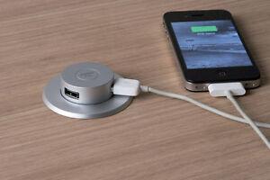Pop Up USB Charger for Phones, Tablets In Motorhome, Campervan, Kitchen worktop