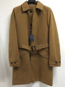 Mens Plain Trench Coat Lined - Many sizes - BNWT. Colour Tobacco or Navy