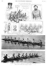 Yale and Atalanta Eight Oar  Boat Race -  Labor Agitators in London  -  1890