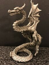 """Vintage Gallo Pewter Standing Dragon LOOK! 1988 Dragon Dungeon D&D 4.5"""""""