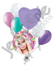 7 pc Barbie Image & Doo Dads Happy Birthday Balloon Bouquet Decoration Mattel