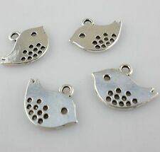 30pcs Tibetan silver Small Bird Charms Pendant 12*16mm