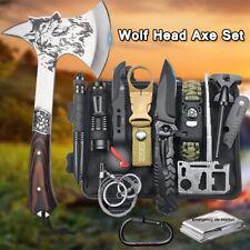 Taktische Axt Tomahawk Überleben Survival Set Militär Outdoor Camping Jagd Tools