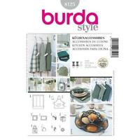 Burda Sewing Pattern 8125 Kitchen Accessories Loop Blinds Size Os Uncut New