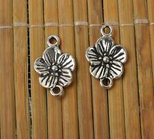 40pcs tibetan silver earring Flowers Charm Pendant connector 18mm