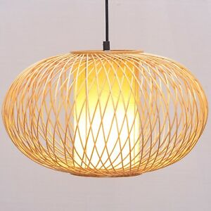Asian Restaurant Bamboo Pumpkin Ceiling Pendant Lights Living Room Hanging Lamp
