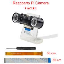 Módulo de Cámara Visión Nocturna + 2Pcs IR LED Luz para Raspberry Pi 3, Pi cero
