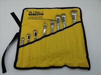 8 pc Double Offset Ring Spanner Wrench Set Metric 8-27mm, YATOOLS
