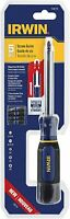 IRWIN 1948776 Screw Guide Driver, 5-Piece with Magnetized Bit Holder, Multi Bit.