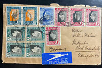 1937 Johannesburg South Africa Airmail Cover To Stuttgart Germany