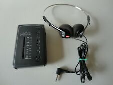 GE 7-1637A Portable Pocket Radio AM/FM STEREO Full Working With GE headphones