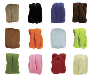 Clover 20g Natural Wool Roving - Full Range of Colors Available!
