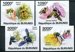 BURUNDI 2011 MNH Imperf 4v, Honey Bees, Insects