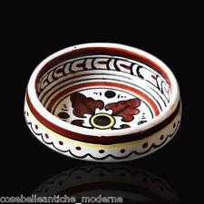 Piattino Vintage Ceramica Artistica VOLPI DERUTA Handpainted Painted Dish 900s