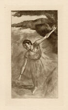 """1892 Edgar Degas Etching """"The Graceful Young Dancer"""" Framed Edition of 50 COA"""