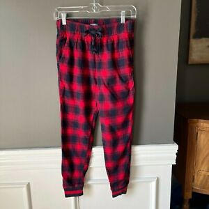 Aerie Pajama Plaid Flannel Pocket Pants Joggers XS Short