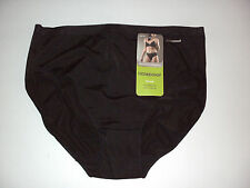 Holeproof: Size: 16. No Panty Line, Won't Ride Up: Sleek Black, Hi-Cut Brief