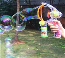 Kids Childrens Bubble Machine Gun Blower Solution Birthday Party Bubbles Toy &