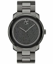 New Movado Bold Gunmetal Stainless Steel Men's Watch 3600664