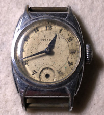 Vintage Westclox Men's Watch Parts/Repair Made In USA Silver Blue Hands