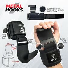 WYOX Lifting Hook Power Weight Training Straps Gym Workout Wrist Support Gloves