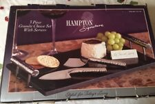 Hampton Signature 3 Piece Granite Cheese Set with Server