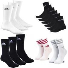 adidas SOCKS - SPORT SOCK WHITE - BLACK - 3 PAIRS - 6 PAIRS - ALL SIZES