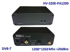 HV-320E-PA1200 FPV Full HD Video Transmitter (100~2500MHz), HDMI/CVBS to DVB-T