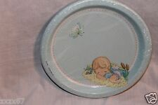 NEW PRECIOUS MOMENTS BABY SHOWER BLUE BOY 8 DINNER PLATES  PARTY SUPPLIES