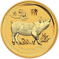 2019 P Australia Gold Lunar Year of the Pig 1/10 oz $15 - BU