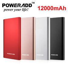 Poweradd Pilot 4GS 12000mAh Power Bank 2USB Portable phone Charger Backup