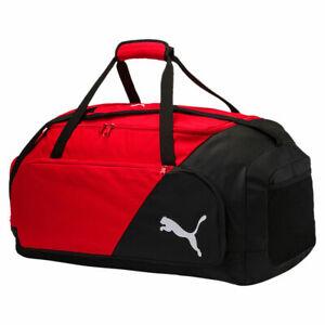 Puma LIGA Holdall Mens Large Red/Black Bag Sports Fitness Zip Bag New 075208 02
