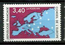 Francia 1990 SG C50 Nuovo ** 100% Mappa dell'Europa
